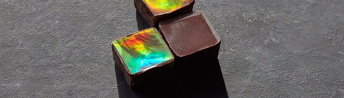 Shimmering chocolate