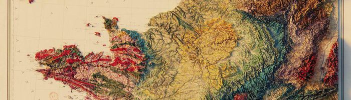 Geological map of France